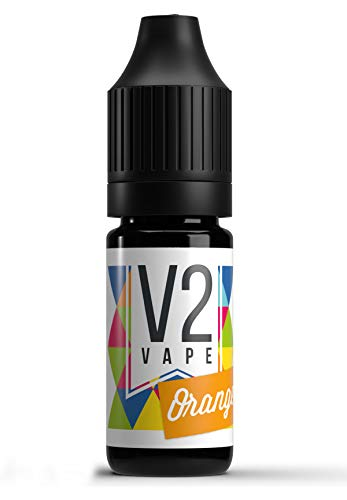 V2 Vape Orange AROMA / KONZENTRAT hochdosiertes Premium Lebensmittel-Aroma zum selber mischen von E-Liquid / Liquid-Base für E-Zigarette und E-Shisha 10ml 0mg nikotinfrei