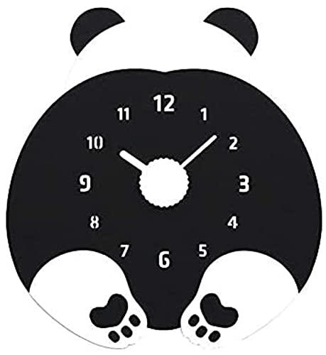 KONGLZG Orologio da Parete per Bambini da 12 Pollici Carino Cartoon Cartoon Orologio da Parete Animale - Muto Non-Ticchettio Acrilico Orologio Digitale Arabo-Orologio Parete
