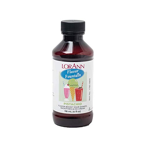 LorAnn Pistachio Flavor Fountain, 4 oz Bottle