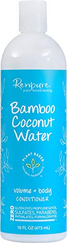 Renpure Plant-Based Beauty Bamboo Coconut Water Volume + Body Conditioner, 16 Fluid Ounces