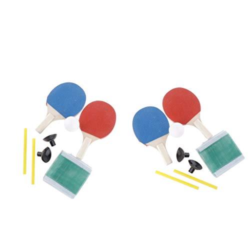 perfeclan Mini Raqueta de Tenis de de 4 Piezas, Red de Pelota, Padel Interior, Equipo de Práctica