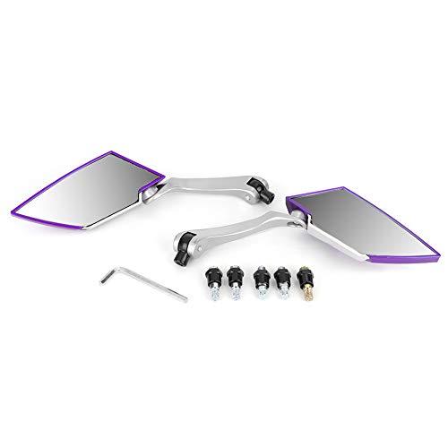 Accesorio para motocicleta, Accesorio universal para motocicleta, 1 par de piezas de espejo retrovisor para motocicleta para motocicleta(purple)