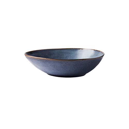 XUSHEN-HU Ensaladera de Fideos tazón de Sopa pequeño tazón de Fuente tazón Postre Bowl cerámica tazón de Agua caída 19.8cmX4.8cm 430ml Cocina