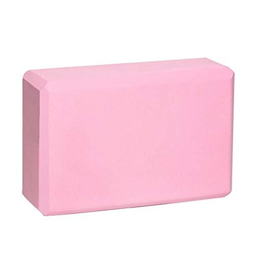 NAI-Pad Protection de l'environnement à Haute densité EVA Yoga Brique.Yoga, Pilates SIDA, Yoga débutant et Mauvaise flexibilité praticiens. (Color : Cherry Pink)