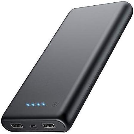 【最新版 薄型 急速充電】24800mAh モバイルバッテリー 大容量 残量表示 2USB出力ポート Android/タブレット/その他のスマホ 対応 小型 バッテリー 携帯充電器 PSE認証済み