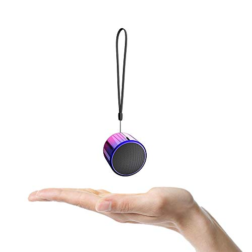 TWS Wireless Portable Mini Bluetooth Speakers with 5W Big Sound, Wireless Stereo Pairing, Metal Enclosure, IP65 Splashproof, Minimalism Design, Nylon Lanyard for Echo Dot/Android/ipad/iPhone/Laptop