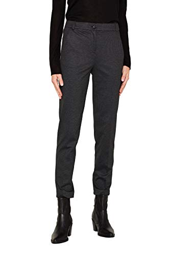ESPRIT Collection Damen 109Eo1B011 Hose, Grau (Anthracite 010), W(Herstellergröße:40)