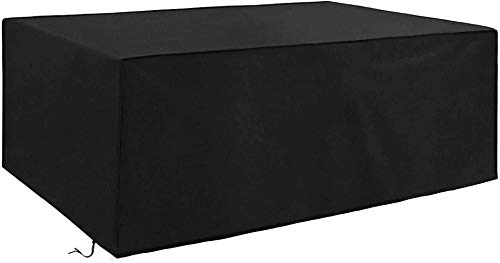 Garden Protective Cover,Garden Furniture Cover, Outdoor Furniture Cover, Heavy Duty Rip Proof Oxford Fabric Rattan Cover, Waterproof, Windproof, Anti-UV, Rectangular Table Set Cover, for Patio