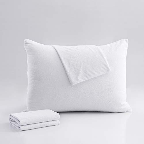 Reaks Hypoallergenic King Pillow Protectors Covers with...