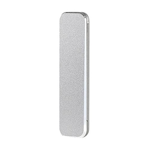 1 Pc Teléfono Soporte De Aleación De Aluminio Plegable Escritorio Ultra-Delgado Teléfono Portátil Titular Gris