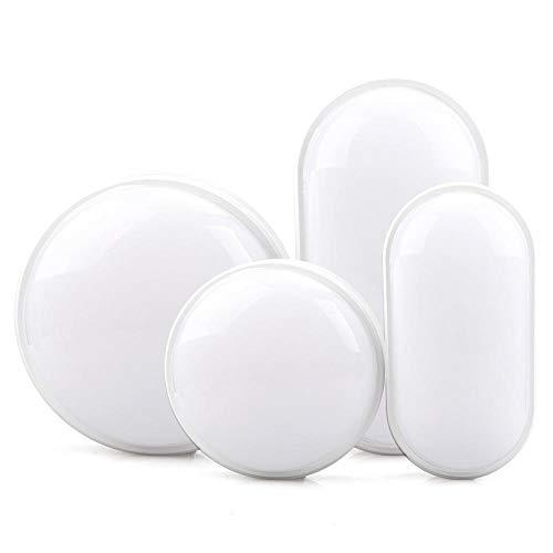 Led-plafondlamp, rond, ovaal, waterdicht, waterdicht, buitenverlichting, badlamp, waterdicht, kleur Cold_White_Round_20W
