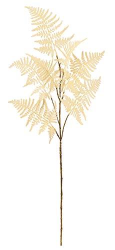 ASCA 造花 フラワーアレンジメント アスパラガスファーン クリームホワイト 全長85cm