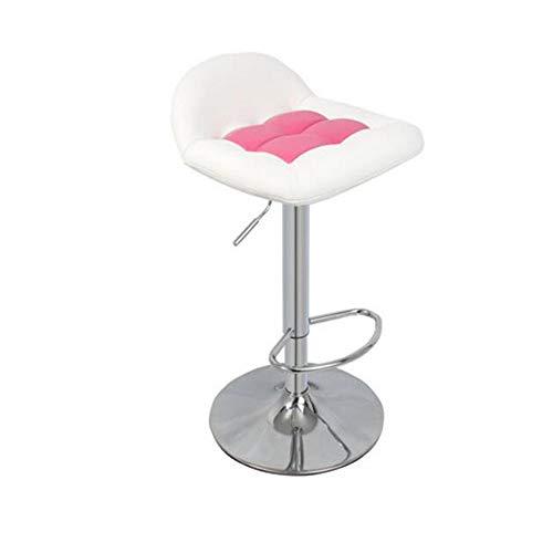 NAN liang Tabourets de bar pivotants, chaises de bar à la maison avec cuisine et dossier rembourré, chaise de bureau réglable en hauteur avec repose-pieds chromé, 6 couleurs disponibles