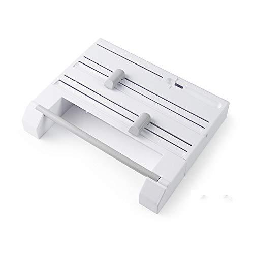 TANSTAN Portarrollos de papel de cocina multifunción 6 en 1, dispensador de papel de aluminio, color blanco