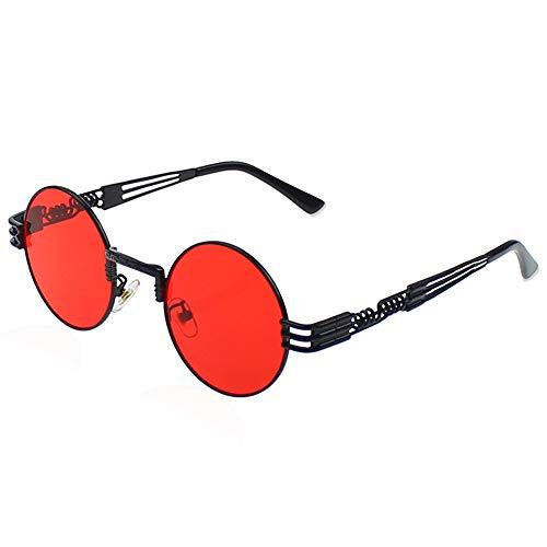 Men's Polarized Sunglasses UV Protection Sunglasses for Men & Women Youtato Brand-new Fashion Classic Vintage Round Lenses Ultra Lightweight Metal Glasses