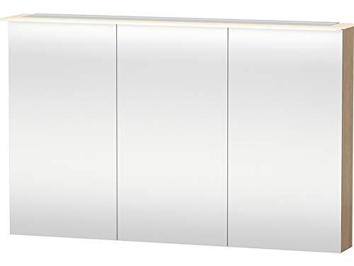 Duravit Spiegelschrank X-Large 138x1200x760mm 3 Spiegeltüren, LED, eiche gebürstet, XL759601212