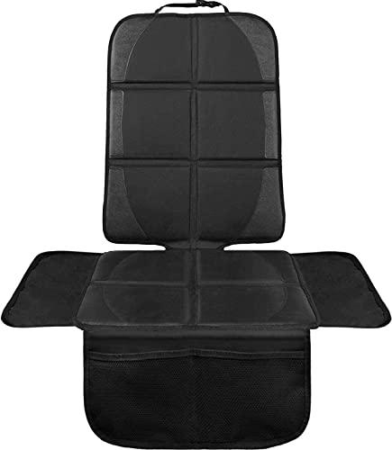 Veshow Protector de asiento de coche Protector de asiento de coche para asientos de niño con tela impermeable y cubierta acolchada más gruesa (Negro-1)