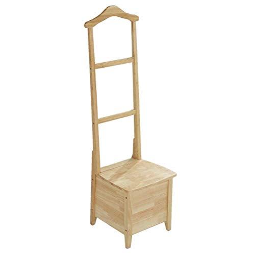 HYYDP Perchero Ropa Percheros de pared Perchero, perchero minimalista moderno Perchero de madera maciza Piso Gabinete de almacenamiento creativo nórdico Dormitorio de almacenamiento simple Silla de re