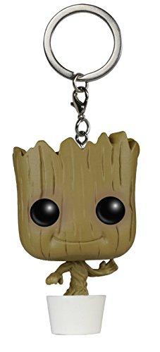 Llavero de Baby Groot - La Figura de accion de Guardianes de la Galaxia de Marvel   Gadget para los Seguidores de Bobblehead Dancing Groot  Regalos Divertidos de Disney en 3D para ninos Bayram