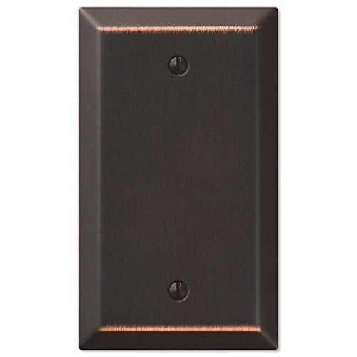 Traditional Design Wall Switch Plates Blank Single Outlet Cover, Oil Rubbed Bronze