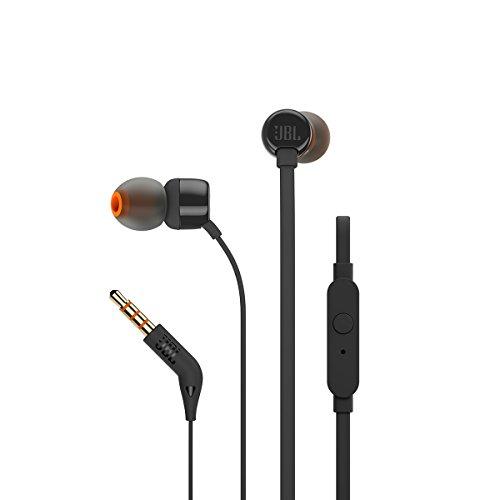 JBL T160 in-Ear Headphones with Mic (Black)