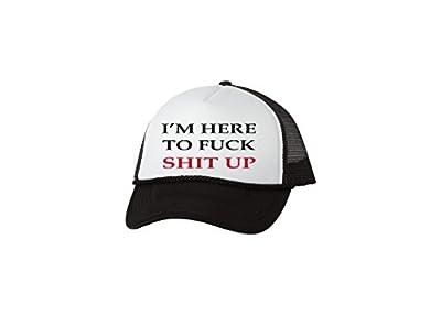 Rogue River Tactical Funny Trucker Hat I'm Here Baseball Cap Retro Vintage Joke For Men or Women