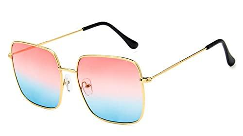 Secuos Moda Gafas De Sol De Gran Tamaño A La Moda, Gafas Cuadradas Vintage para Mujer, Gafas De Sol para Mujer, Gafas De Sol Uv400, Dorado, Rojo, Azul