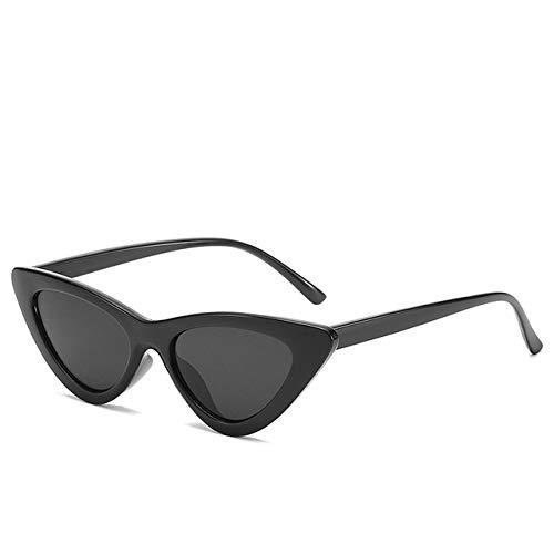 QAZWSXE Gafas de sol Gafas de sol de ojo de gato de mujer sexy lindas de alta calidad para mujer Gafas de sol pequeñas de marca vintage para mujer C1