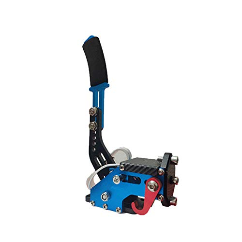 HOMYY Handbremse USB PC Games Handbrake Klemme Racing Handbremse Handbremsgriff Schalter für G25 G27 G29 T500 (Blau)