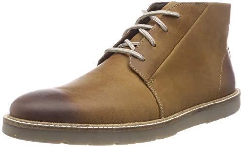 Clarks Herren Grandin Mid Chukka Boots, Braun (Dark Tan Lea), 45 EU