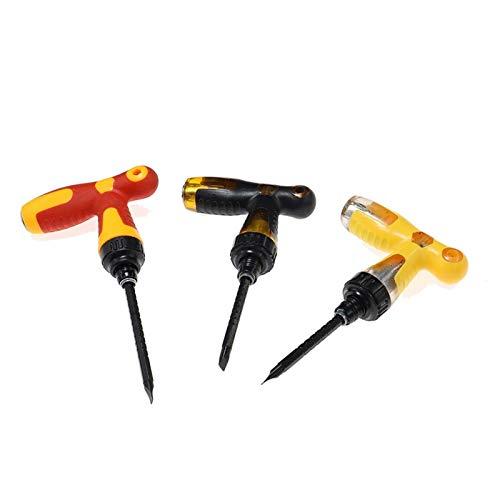 PACPL 3 unids t Manejar bits magnéticos ranurado telescópico Ajustable Destornillador Ajustable Set de la Llave de trinquete Herramientas de Mano de reparación de Dual