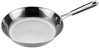 T-fal E75907 Performa Pro Stainless Steel Dishwasher Safe Oven Safe Fry Pan Saute Pan Cookware, 12-Inch, Silver