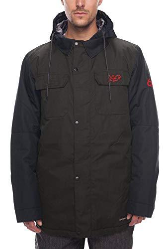 686 Men's Slayer Insulated Jacket - Waterproof Ski/Snowboard Winter Coat, Black Denim, Medium