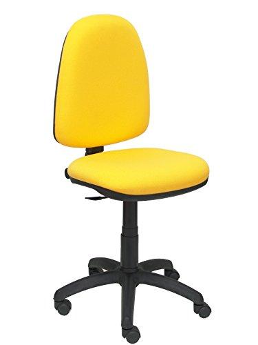 PIQUERAS Y CRESPO model 04CP ergonomische bureaustoel met permanent contactmechanisme en in hoogte verstelbaar zitting en rug bekleed in stof BALI geel