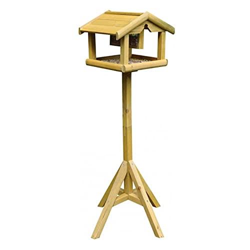 Klassisch aussehender Vogelfutterspender aus Holz