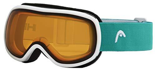 Head Ninja, unisex jeugdjunior, skibril, oranje/turquoise, één maat