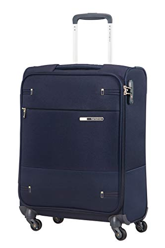 Samsonite Base Boost - Spinner S (Länge 40 cm) Handgepäck, 55 cm, 39 L, Blau (Navy Blue)