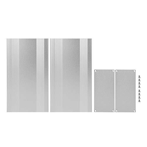 Aluminium-Projektbox - Aluminium-Projektbox Mattes Silbergehäuse DIY Elektronisches Produkt Wärmeableitung 68x145x250mm