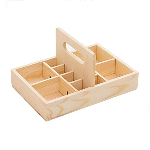 Trousses à maquillage Boîte à huile essentielle Boîte à huile essentielle de haute qualité Boîte de stockage Boîte à huile multi-éléments de grande capacité Treillis en bois massif de pin Trousses à m