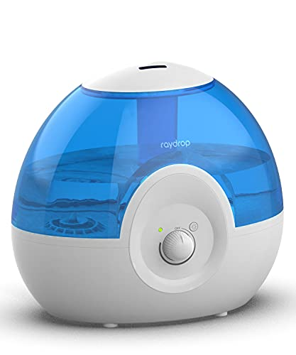 raydrop Cool Mist 2.2L Humidifiers for Bedroom, 28dB Whisper-Quite Ultrasonic Humidifier, Easy to Clean Home Humidifier, Auto Shut-Off, 30H Work Time (Blue)