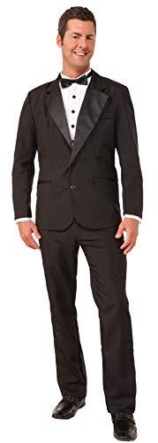 Forum Novelties Men's Instant Zip-Up Tuxedo Costume, Black, Large