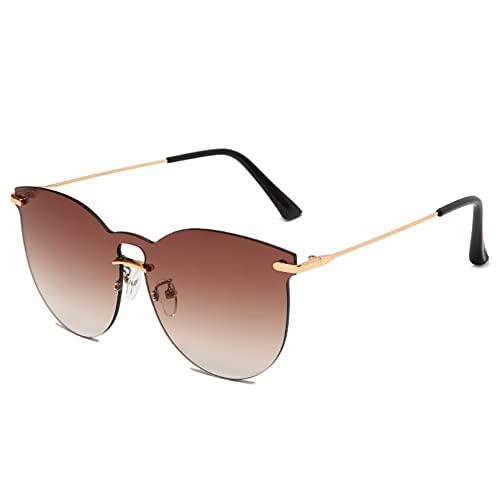 LUOXUEFEI Gafas De Sol Gafas De Sol Sin Montura Mujer Gafas De Sol De Gran Tamaño Sombras Gafas