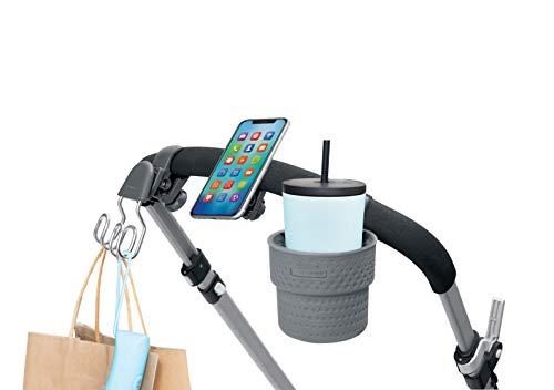 Skip Hop Universal Stroller Accessory Starter Set, Stroll & Connect, Grey