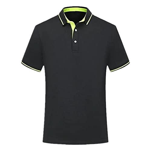 N\P Polo Shirt Uomo Estate Manica Corta Uomo Polo Designer Oversize Polo Grigio scuro XL