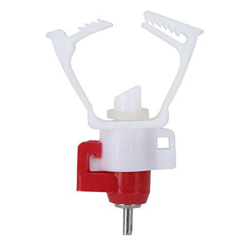 Viccilley Bebedero de Agua de Pollo - 20 Piezas de Tubo Cuadrado Bebedero automático de Aves de Corral Accesorios de Granja de pezón para Uso de Pollo