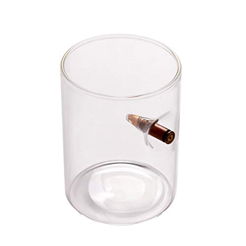 Oshide Bullet Weinglas, Bulletproof Whisky Glas für Whiskey, Bourbon Vodka Bar Wein, personalisierte Lucky Bulletproof Weingläser am besten für Vater, Ehemann, Tough Guy