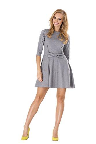 EloModa® jurk elegant met strik mini-jurk top maat 36 38 S M, M126
