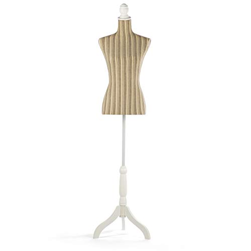 Female Mannequin Torso Dress Form Clothing Display Tripod Stand (Gray)