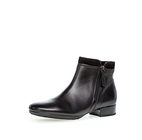Gabor Damen Ankle Boots, Frauen Stiefeletten,Komfortable Mehrweite (H),Ladies,Boots,Stiefel,Bootee,Booties,schwarz (Flausch),39 EU / 6 UK
