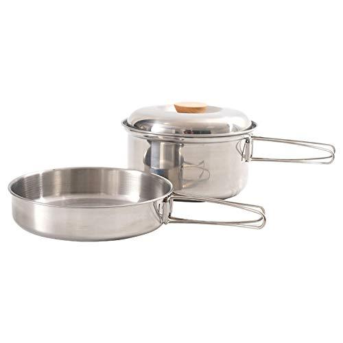 TOOGOO ExtéRieur Batterie de Cuisine Camping Pot Pliant Tasse de Vaisselle avec Un Couvercle Vaisselle de Tourisme à PoignéE Pliable